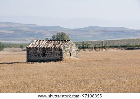 Agrarian landscape in La Rioja Province, Spain