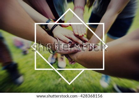 Agreement Collaboration Connection Support Teamwork Concept