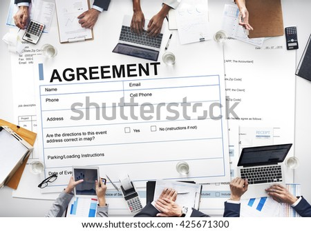Free Contract Financial Partnership Business Agreement Concept