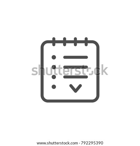 Agreement line icon isolated on white. Vector illustration