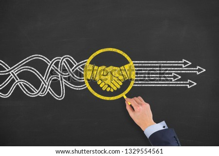 Agreement Solution Concepts on Chalkboard Background