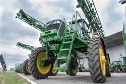 Agricultural harvesting equipment combine.