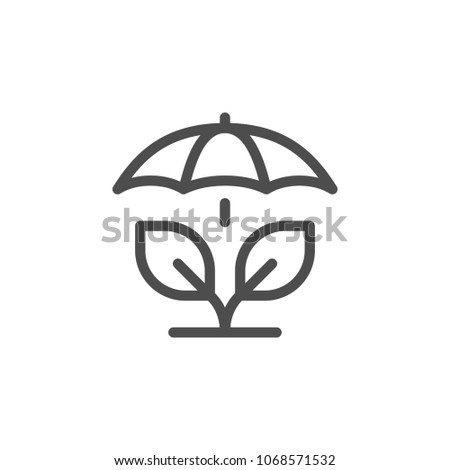 Agricultural insurance line icon isolated on white