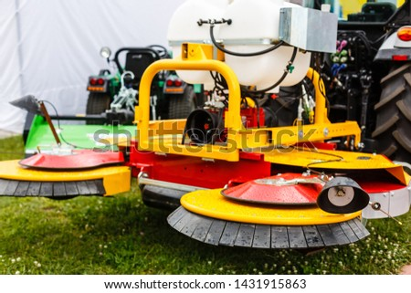 Agricultural machinery in agricultural fair