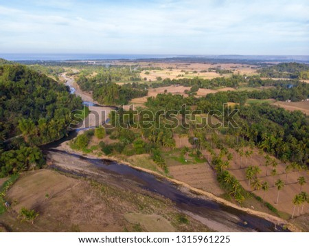 Agriculture Landscape, Philippines, Aerial View