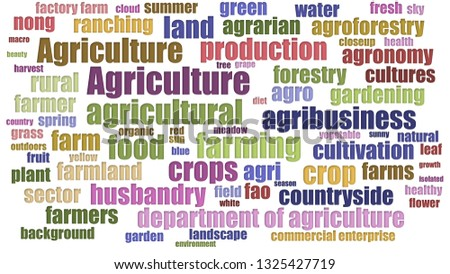 Agriculture Tag Cloud Neatly On White Background