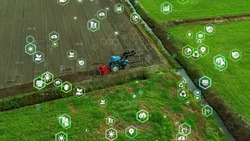 Agriculture technology concept. Agritech. Environmental technology. Sustainable Development Goals,