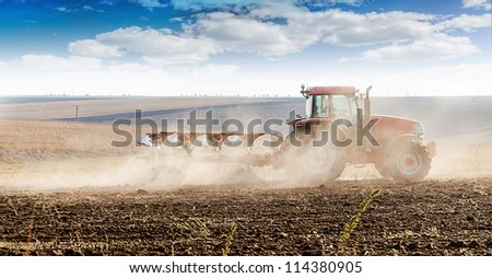 agriculture tractor-landscape