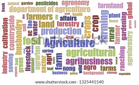 Agriculture Wordcloud Randomised Isolated