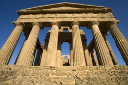 Agrigento, Valley of Temples, Concordia temple, Sicily, Italy