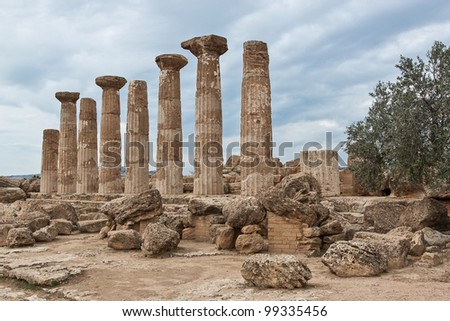 Agrigento, Valley of Temples, Ercole temple, Sicily, Italy