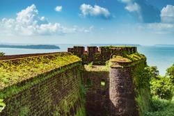 Aguada Fort - North Goa - Seventeenth-century Portuguese fort standing in Goa, India, on Sinquerim Beach
