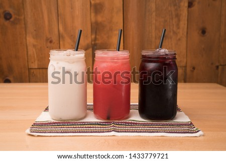 Photo of  Aguas Frescas - Fruit juices Horchata, guava juice and jamaica