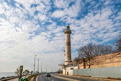 Ahirkapi Fog Horn and Lighthouse and Walls of Constantinople in Istanbul