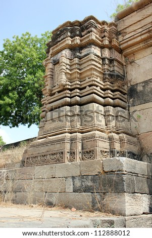 AHMEDABAD, GUJARAT / INDIA - JUNE 16 : Sarkhej Roza on June 16, 2012 in Ahmedabad. Amazing carving on a stone structure built for surplus water management in Ahmed Sar lake built in 15th century A.D.