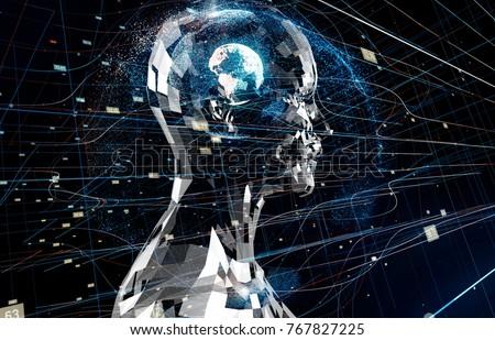AI(Artificial Intelligence) concept. 商業照片 ©