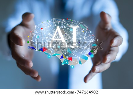 AI(Artificial Intelligence) concept. deep learning. #747164902