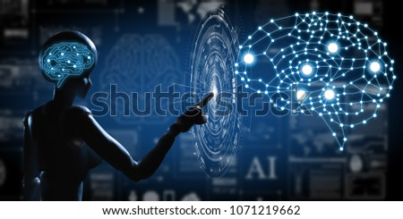 AI, Artificial intelligence conceptual of next generation technology #1071219662