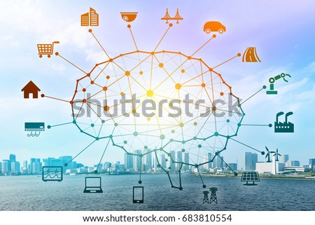 AI concept. Artificial Intelligence and various industries. #683810554
