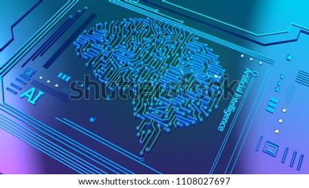 AI 3D Advanced Technology Artificial Intelligence Technology