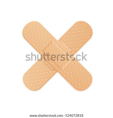 Aid Band Plaster Strip Medical Patch. illustration