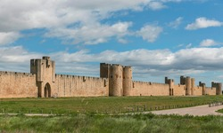 Aigues-Mortes city wall, Languedoc-Roussillon, France