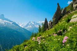 Aiguilette d Argentiere and Mont Blanc, Argentiere, France