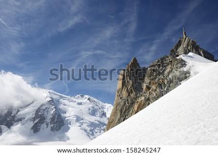 Aiguille du Midi, South face, Mont Blanc Massif, Chamonix, Alps, france