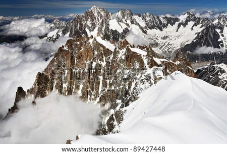 Aiguille Verte at Les Aiguilles du Chamonix, Haute Savoie, France