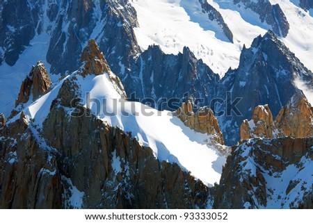 Aiguilles du Chamonix, Haute Savoie, France - stock photo