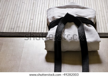 aikido gi with black belt