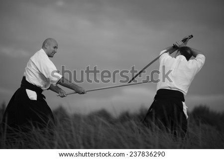 Demonstration of aikido skills and techniques Images and