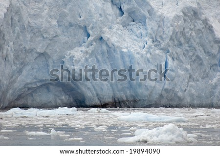 Ailiak Glacier in Kenai Fjords National Park in Alaska