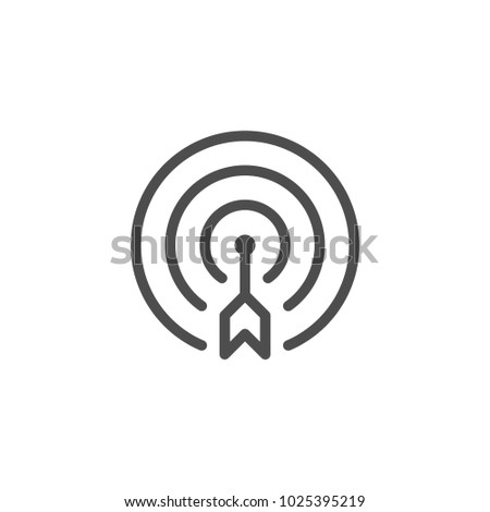 Aim line icon isolated on white