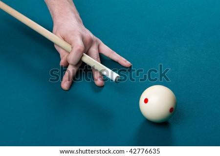 aiming cue ball, pool game
