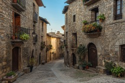 Ainsa, medieval village in the national park of Ordesa-Monte Perdido, Huesca, Aragon, Spain, Pyrenees