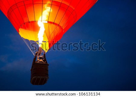 Air balloon in the evening sky