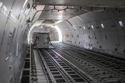 air cargo inside aircraft main deck