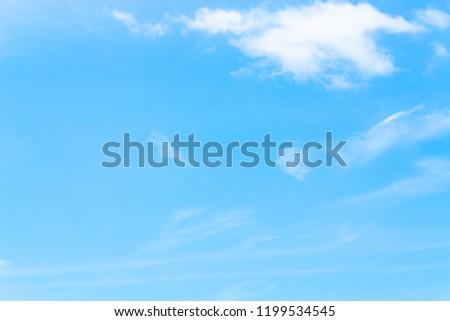 Air clouds in the blue sky. #1199534545