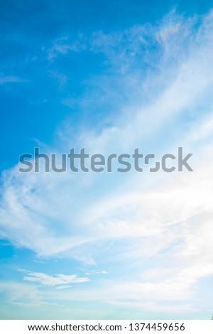 Air clouds in the blue sky. #1374459656