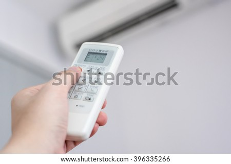 Air condition control by using remote control