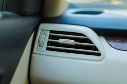 Air conditioner adjust button in car