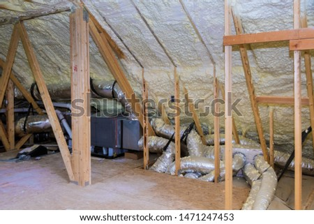 Air conditioner and heating system in installation system in the roof of the house heating system #1471247453
