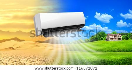 Air conditioner. Comfortable life