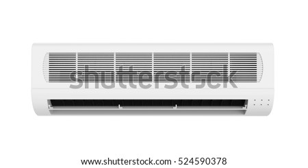 Air Conditioner Isolated. 3D rendering