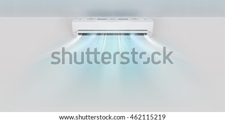 Air conditioner on wall background #462115219
