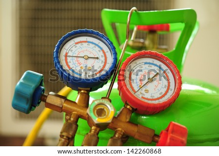 Air Conditioner Repair - stock photo