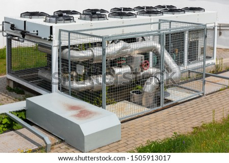 Air-conditioning equipment by factory or plant, restaurant or hotel.