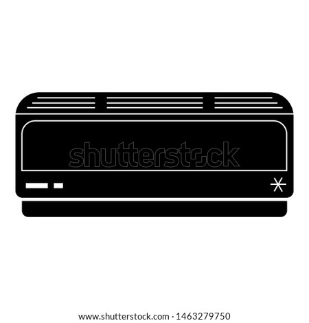 Air conditioning inside icon. Simple illustration of air conditioning inside icon for web design isolated on white background