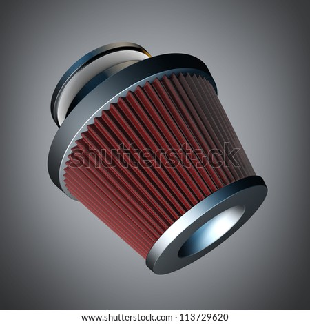 air cone filter of zero resistance. Vehicle Modification Accessories. High resolution 3d render